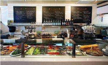 Counter at the new Spaghettini PIzza Trattoria in