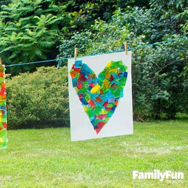 Outdoor art projects are great for summer afternoons,