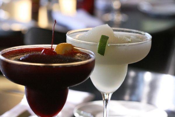 Frozen Margarita and sangria at Mesita Coastal Cantina