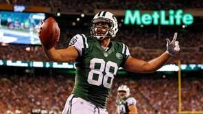 Tight end Jace Amaro of the Jets celebrates