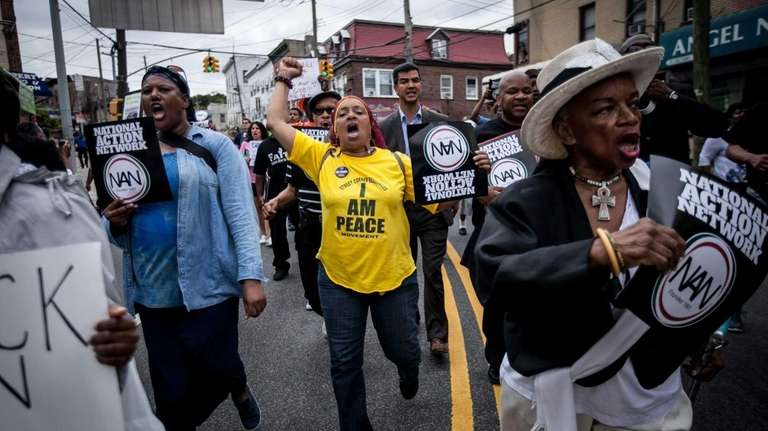 Thousands of people marched in Staten Island to