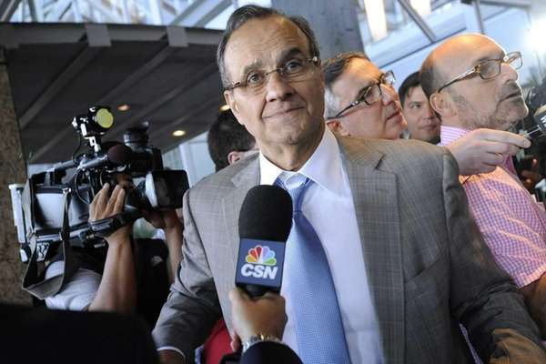 Major League Baseball executive Joe Torre speaks to