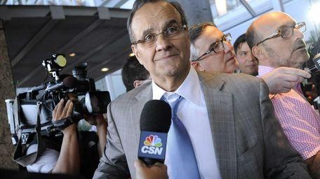 Major League Baseball executive Joe Torre speaks to