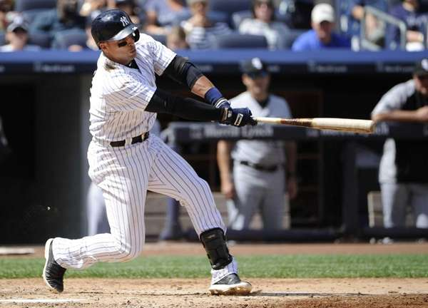 Yankees' Martin Prado hits a two-run double to