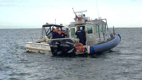 Two men and a boy were rescued early