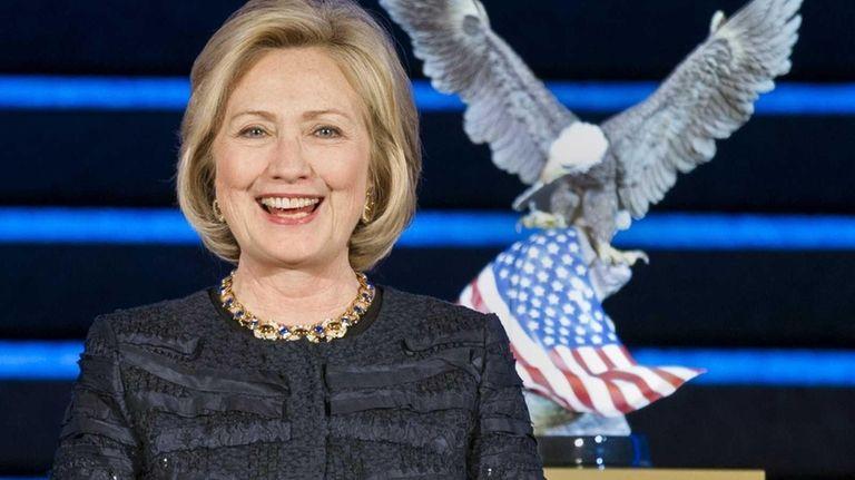 Former senator and secretary of state Hillary Clinton.
