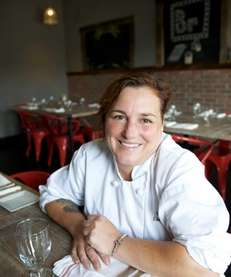 Executive chef Lia Fallon in the dining room