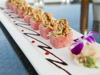 "The ""Oz"" roll is filled with tuna, shrimp"