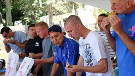 The first Pauly's Pizza Eating Contest took place