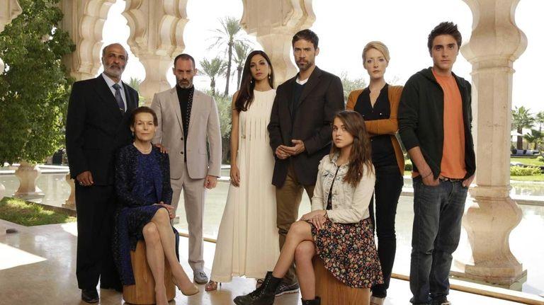 From left, Nasser Faris as Khaled, Alice Krige