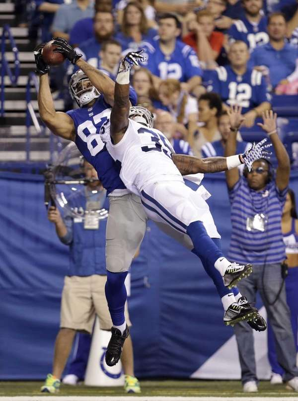 Giants tight end Kellen Davis (87) makes a