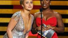 Hayden Panettiere, left, and Uzo Aduba, who won