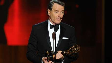 Bryan Cranston accepts the award for outstanding lead