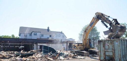 Demolition begins on the former site of the