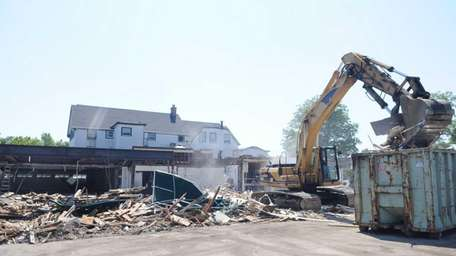 Demolition begins on the former site of the