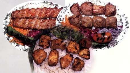 Assorted kebabs at Istanbul Doner Kebab House in