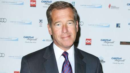 Brian Williams at a Cantor Fitzgerald Charity Day