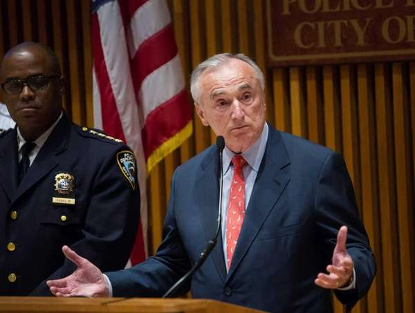 Police Commissioner William J. Bratton at police headquarters