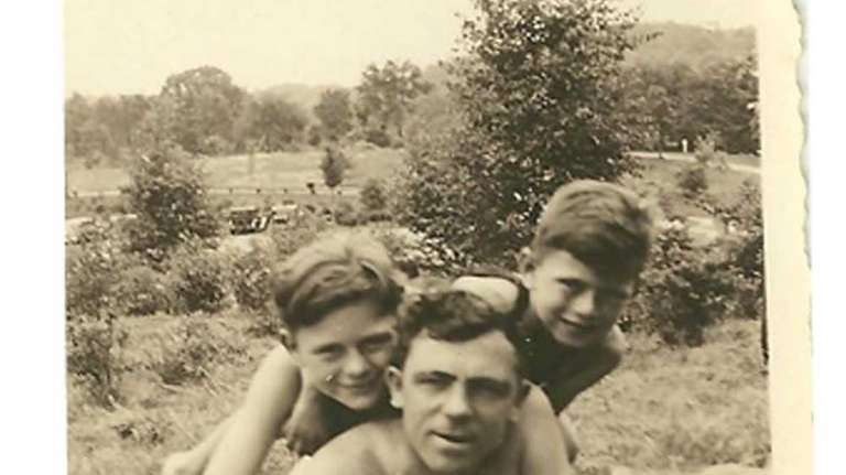 Pete Kellerman, right, as a boy with his