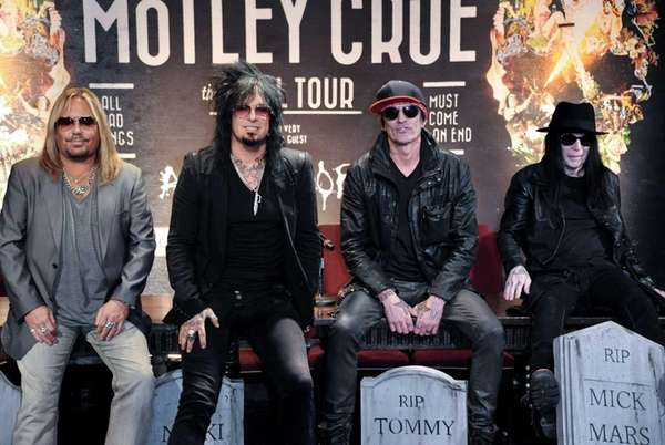 Mötley Crüe -- from left, Vince Neil, Nikki