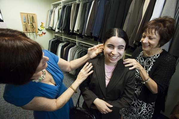 Dress for Success client Tamara Serrano, 19, of