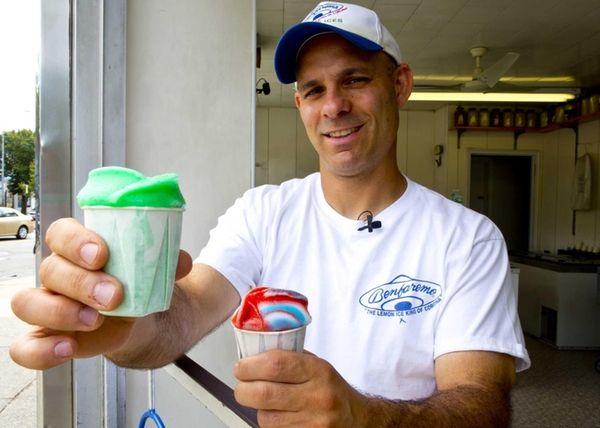 Michael Zampino, the owner of The Lemon Ice