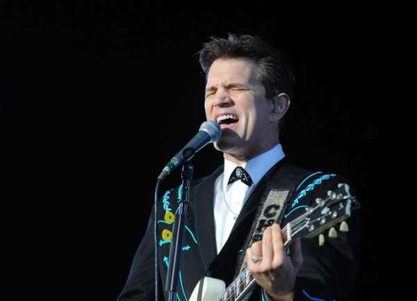 Chris Isaak performs at Nikon at Jones Beach