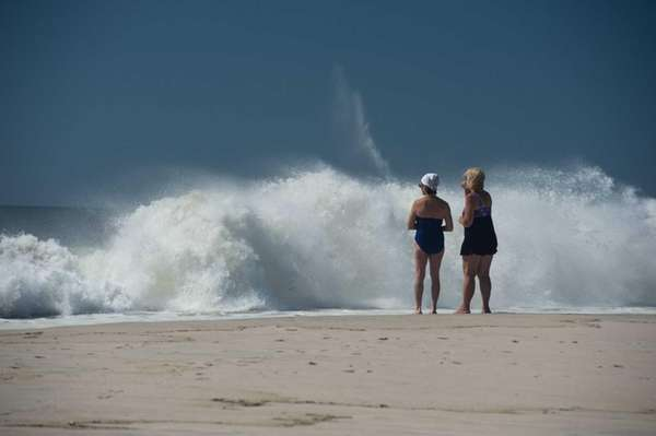 At Robert Moses State Park, people look at