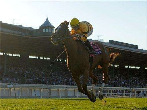 Jockey Jose Lezcano rides Wise Dan to victory