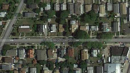 A satellite view of E. Hudson Street in