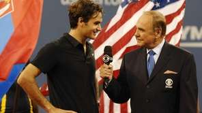 Dick Enberg interviews Roger Federer.