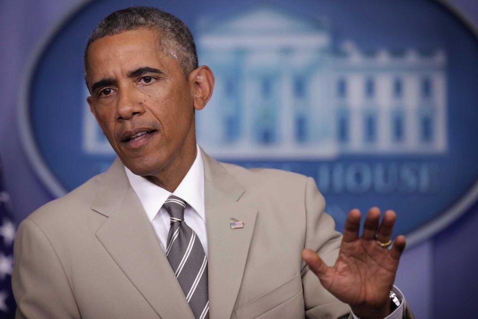 President Barack Obama speaks at the White House
