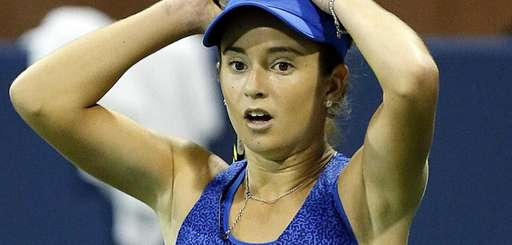 CiCi Bellis looks on during her second-round women's