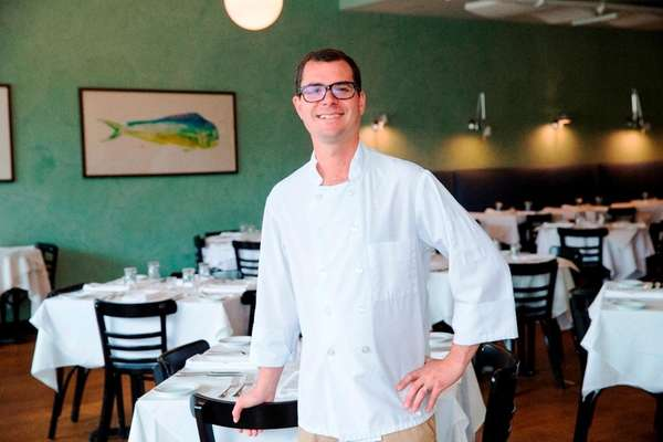 Noah Schwartz, chef-owner of Noah's in Greenport, is