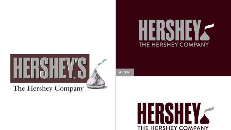 Candy maker Hershey Company unveiled new corporate logos