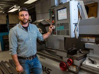 Jim Johnsen, 31, the metal working/automotive repair teacher