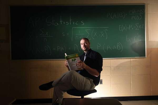 Hicksville High School Advance Placement Statistics teacher Brian