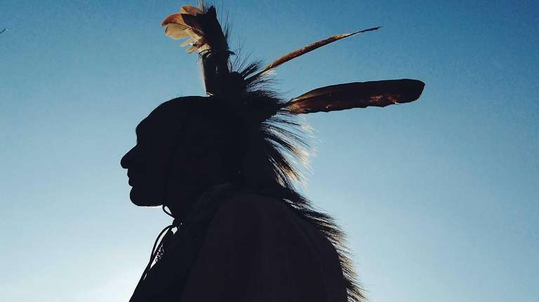 Jason Johnson of the Shinnecock Nation at the