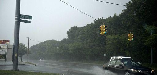 Heavy afternoon rain pelts Plainview on Sunday, Aug.