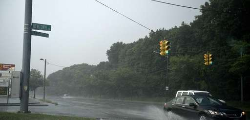 Heavy afternoon rain pelts Plainview on Sunday, Aug.