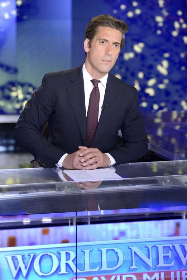 """World News"" anchor David Muir in Manhattan. According"