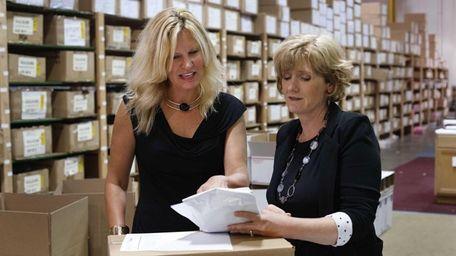 Entrepreneurs Marcia Cubitt, left, and Carrie Charlick on