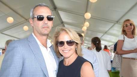 Katie Couric and her husband, John Molner, attend