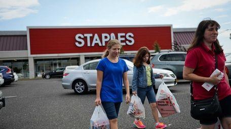 Helen Eisenberg, 12, left, of East Meadow, walks