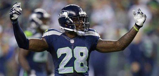 Seattle Seahawks cornerback Phillip Adams gestures on the