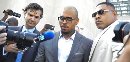 Chris Brown enters the H. Carl Moultrie I