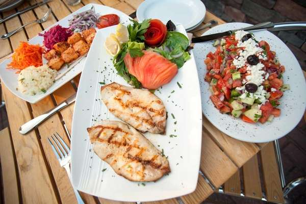 Char-grilled St. Peter's fish is a fine choice