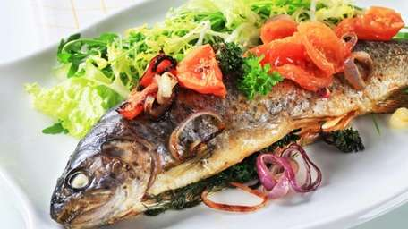 Eating baked or broiled fish at least once