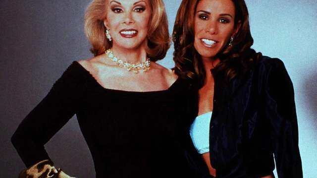Joan Rivers with her daughter and co-host, Melissa