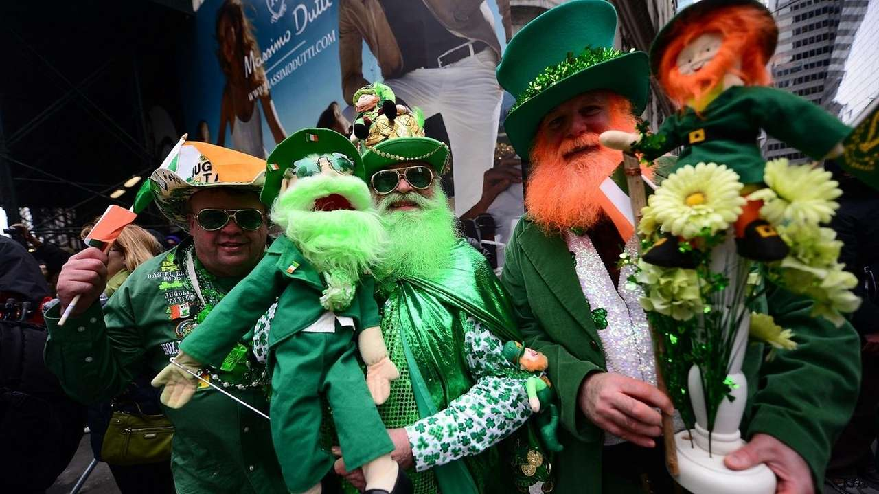 Paradegoers enjoy the St. Patrick's Day Parade on